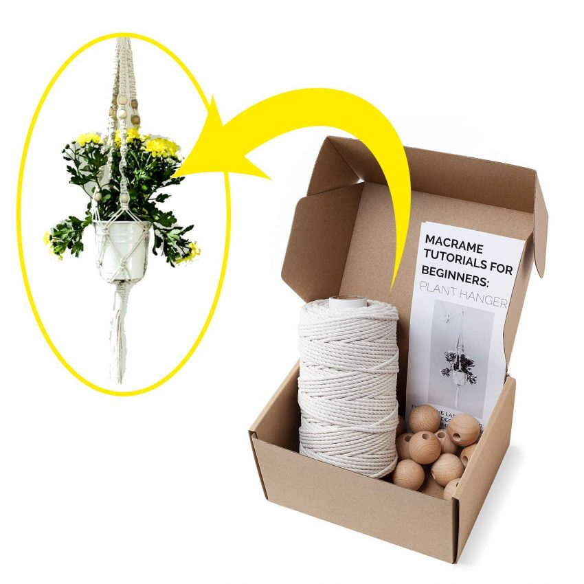 Food and Craft Gift Ideas for Your Business - Macrame Plant Hanger Bundle