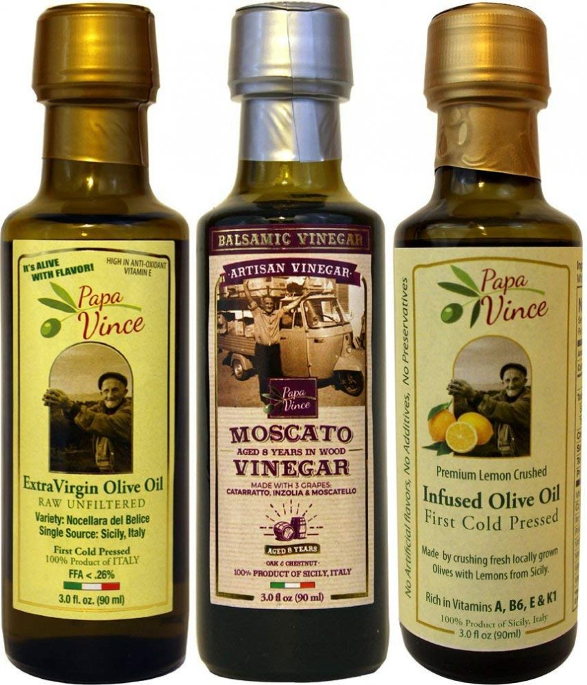Food and Craft Gift Ideas for Your Business - Infused Olive Oil Set