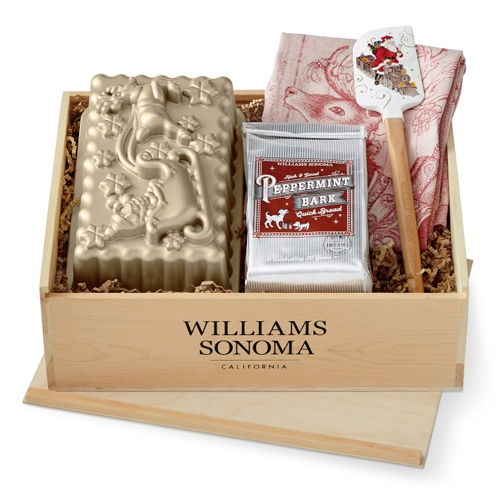 20 Holiday Gift Baskets for the Business Owner on Your List - Peppermint Bark Baking Gift Tray