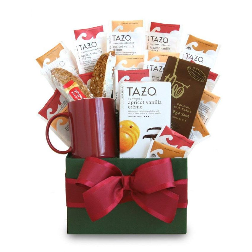 20 Holiday Gift Baskets for the Business Owner on Your List - Tea Gift Basket