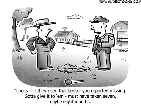 Baster Business Cartoon