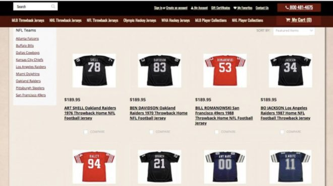 Retro Sports Apparel Company Custom Throwback Jerseys Sells Nostalgic Sports Gear