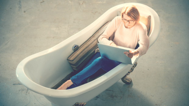 Millennials Statistics: 32% of Millennials Work in the Bathroom