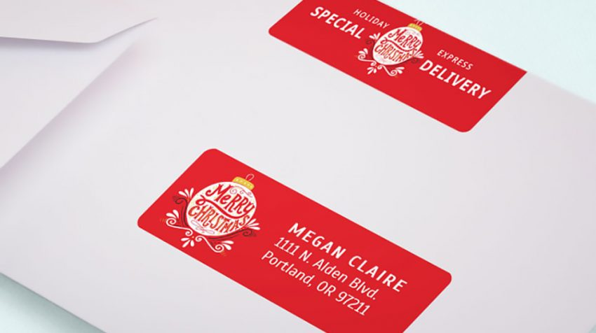 Avery Offers Holiday Printing to Small Businesses in a Variety of Labels, Cards and Tags