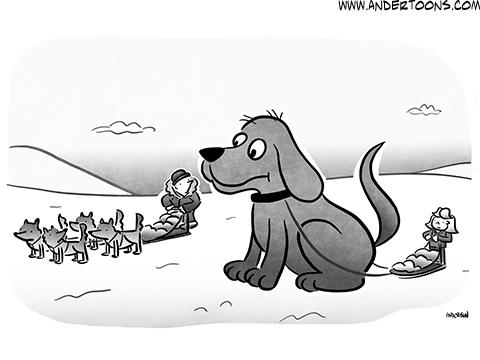 Big Dog Business Cartoon