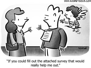 Customer Reviews Business Cartoon