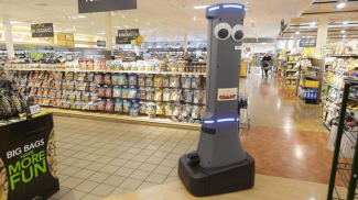 Take Me to Your Carrots -- Robot Greeting Customers at Local Giant Grocery Stores