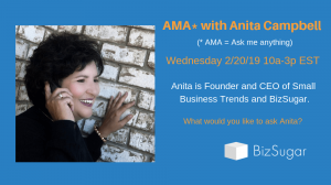 Anita Campbell Ask Me Anything BizSugar