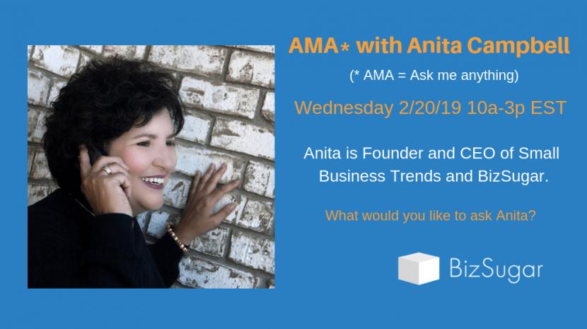 Anita Campbell Ask Me Anything BizSugar