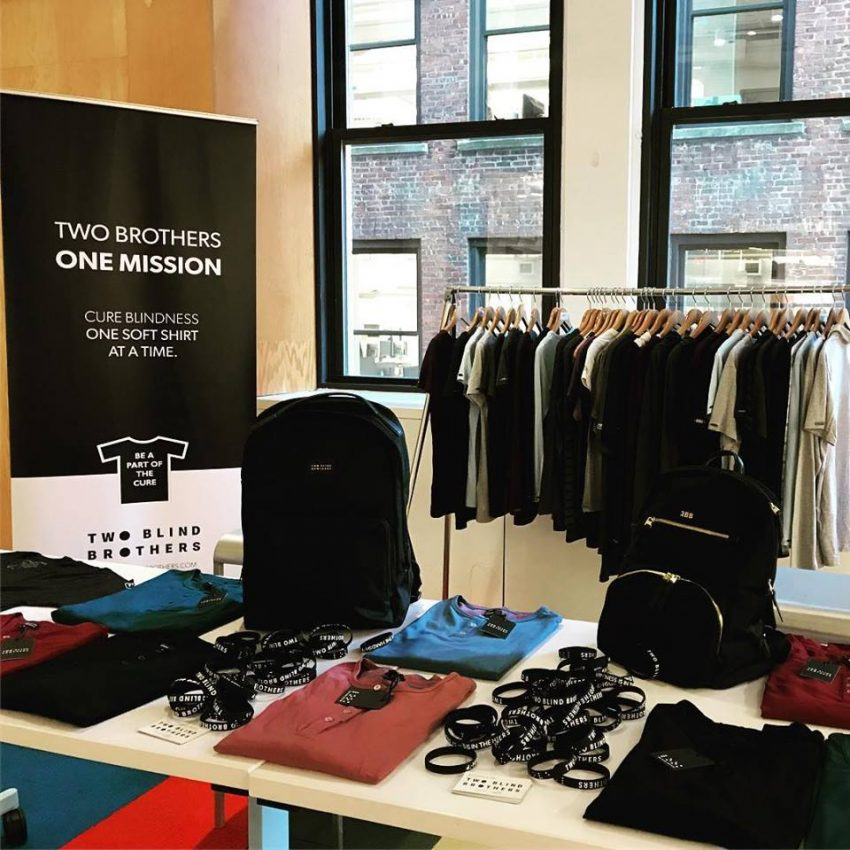 In the Spotlight: Charitable Clothing Brand, Two Blind Brothers, Lets You See What It's Like to Shop Blind