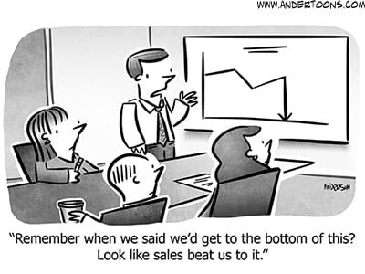 Putting a Positive Spin on Poor Sales Numbers