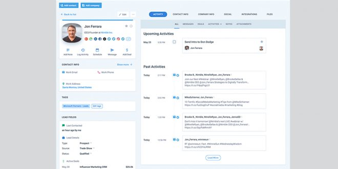 Nimble 5.0 CRM Has Small Business Updates