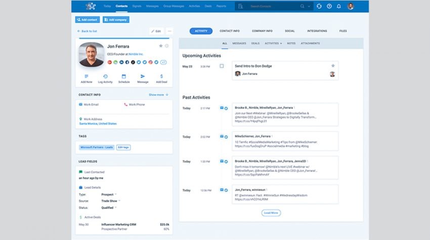 Take a Tour of the New Nimble 5 CRM