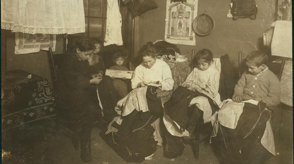 garment finisher - children at work