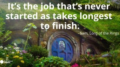 motivational lord rings movie hard work quote