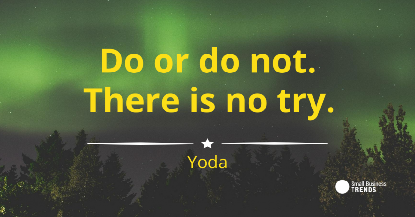 motivational inspirational yoda star wars hard work quote