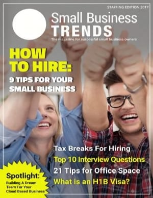 Edition of magazine on staffing and employee hiring for business