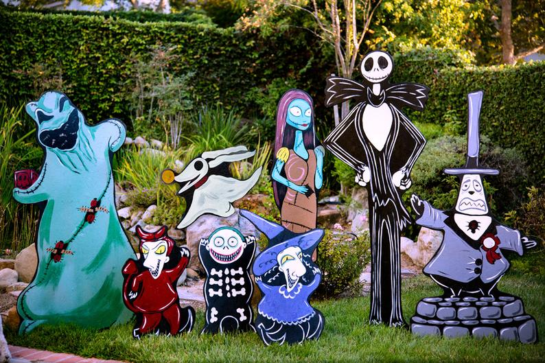 The Nightmare Before Christmas Lawn Display