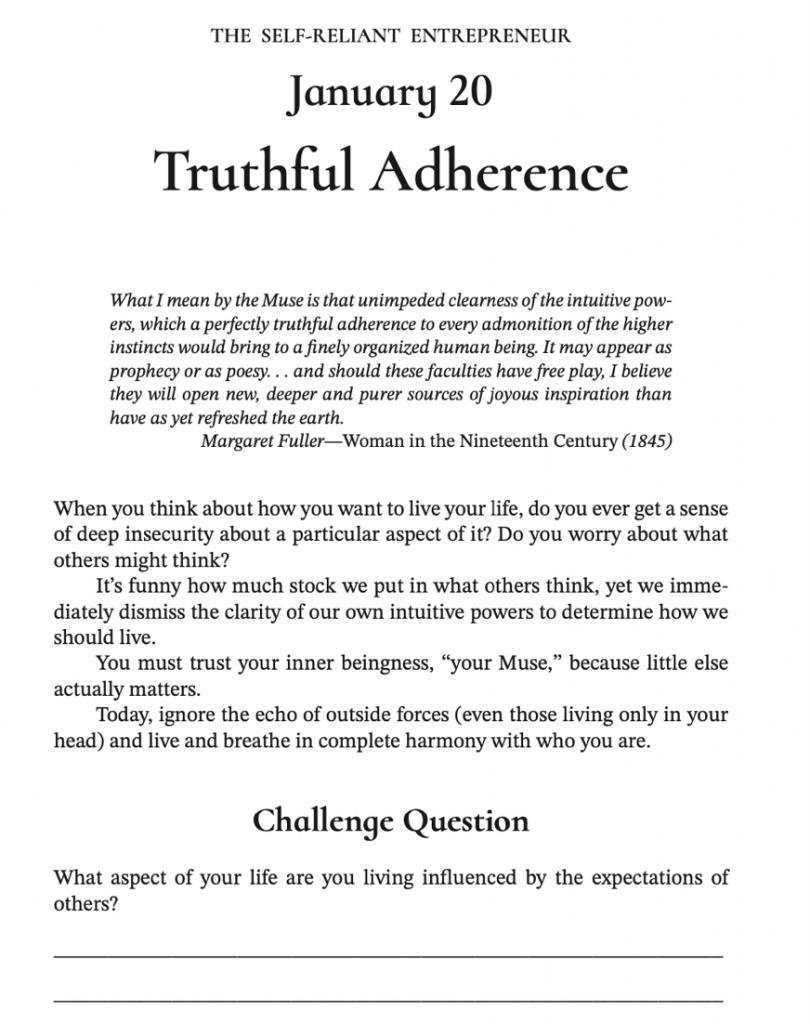 self-reliant entrepreneur chapter example