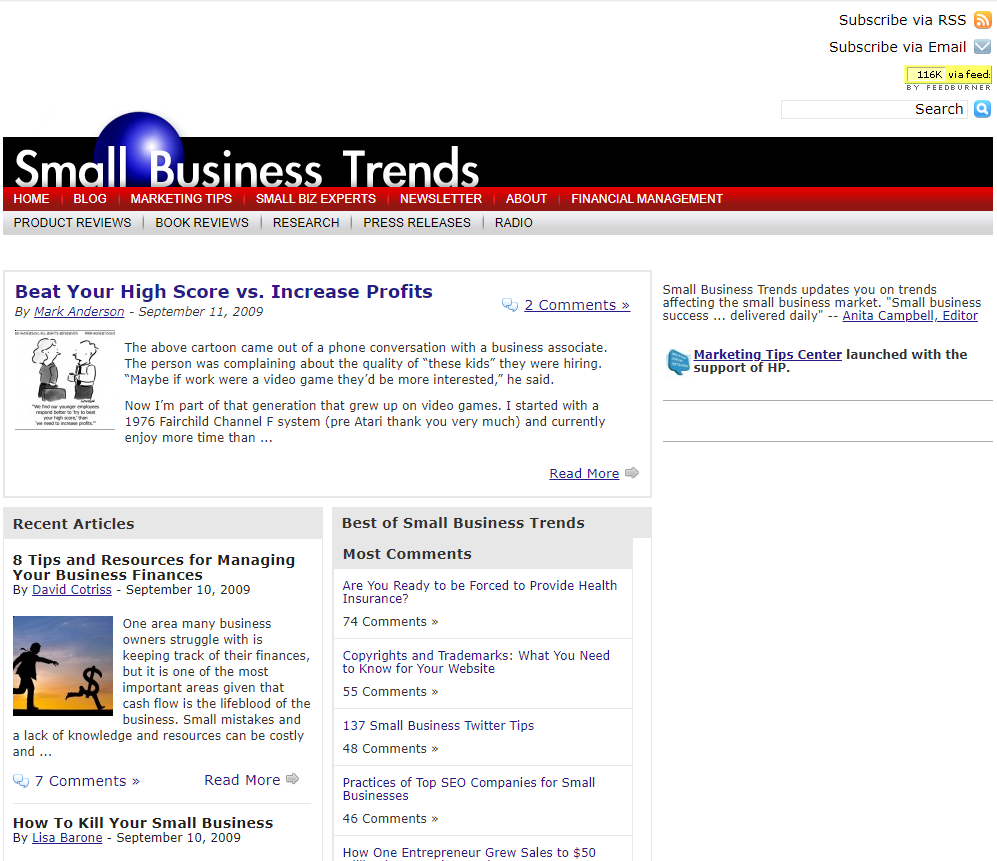 Small Business Trends Celebrates Sweet 16 - See How We Looked in the Past