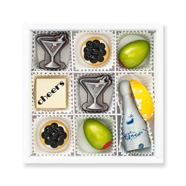 Cocktails and Caviar Chocolate Gift Box