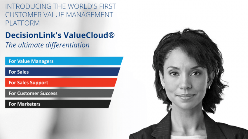 DecisionLink Unveils ValueCloud for Sales, A Customer Value Management Platform