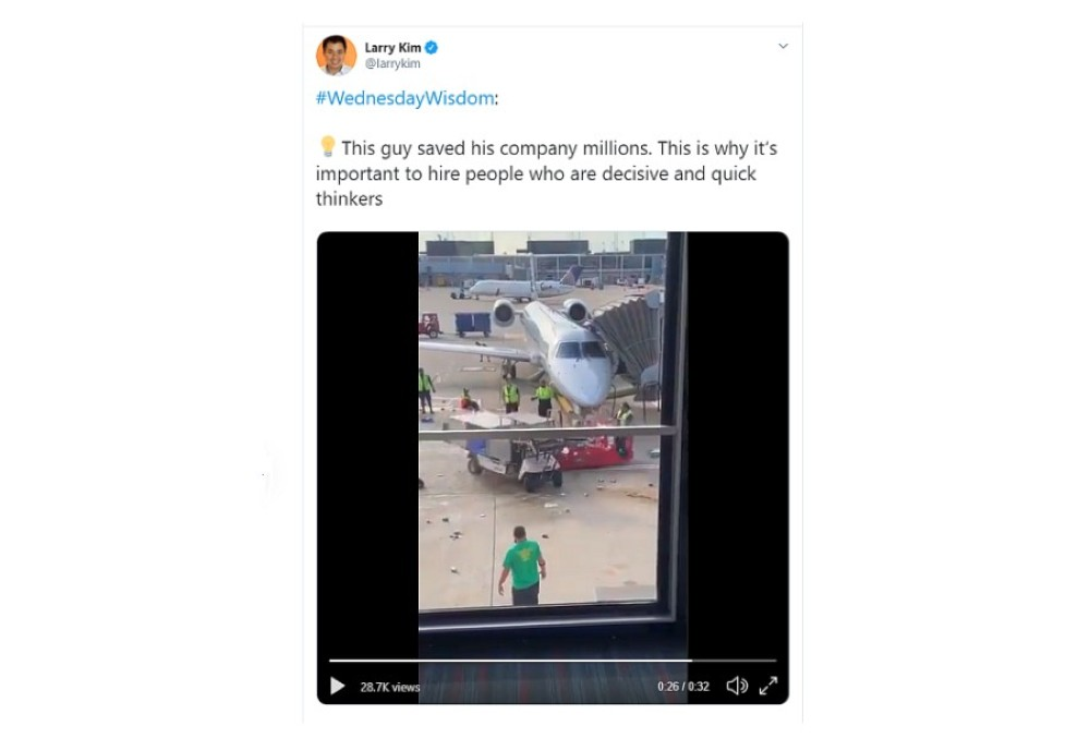 Viral video can be used for newsjacking example