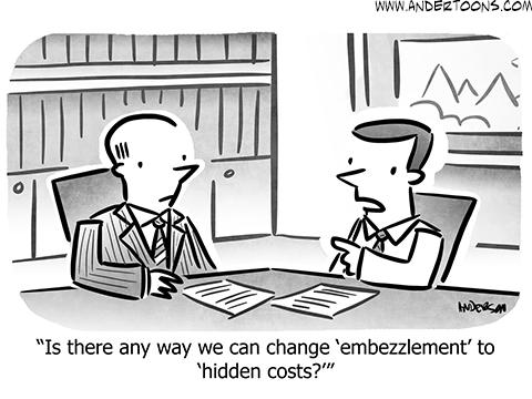 business spin cartoon