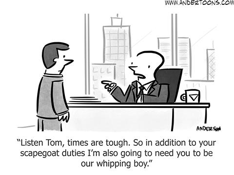 small business cartoon tough times