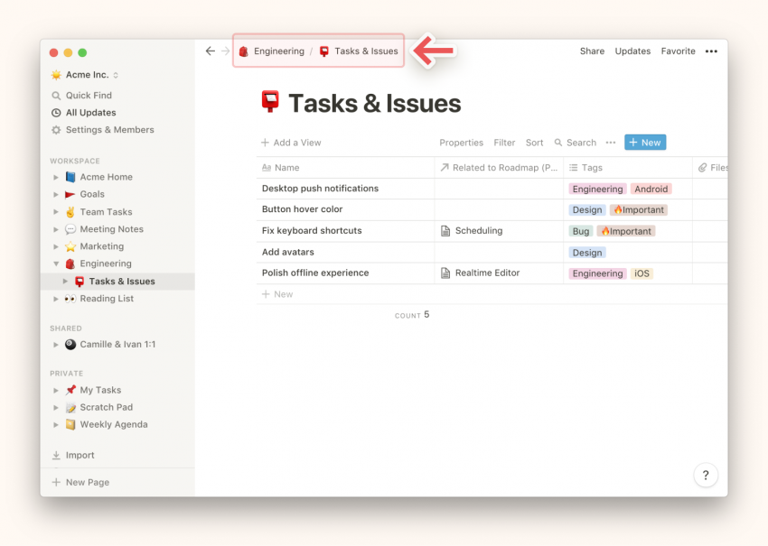 Notion Desktop App Tracks Tasks to Keep Your Productivity Level High