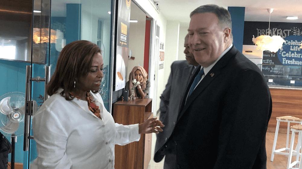 Pompeo Visits Ethiopian Co-working Space Promoting Entrepreneur Liberation