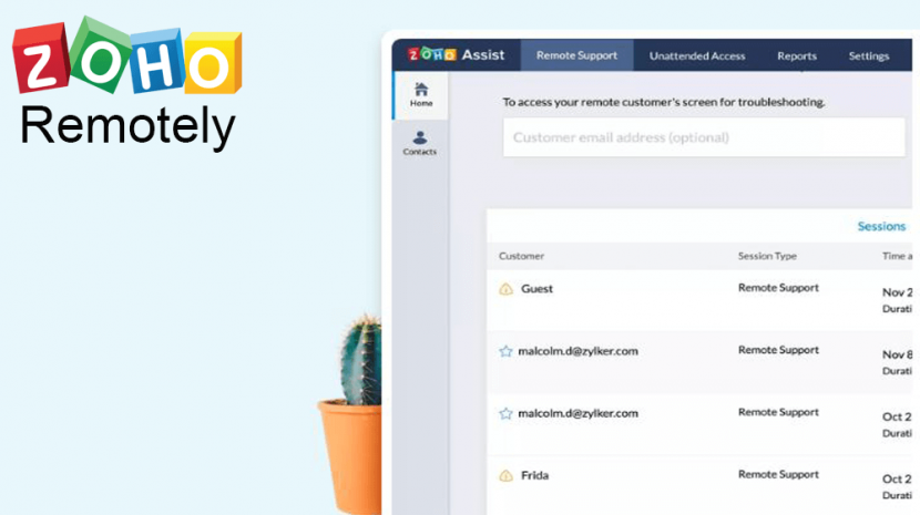 Zoho Remotely Launch