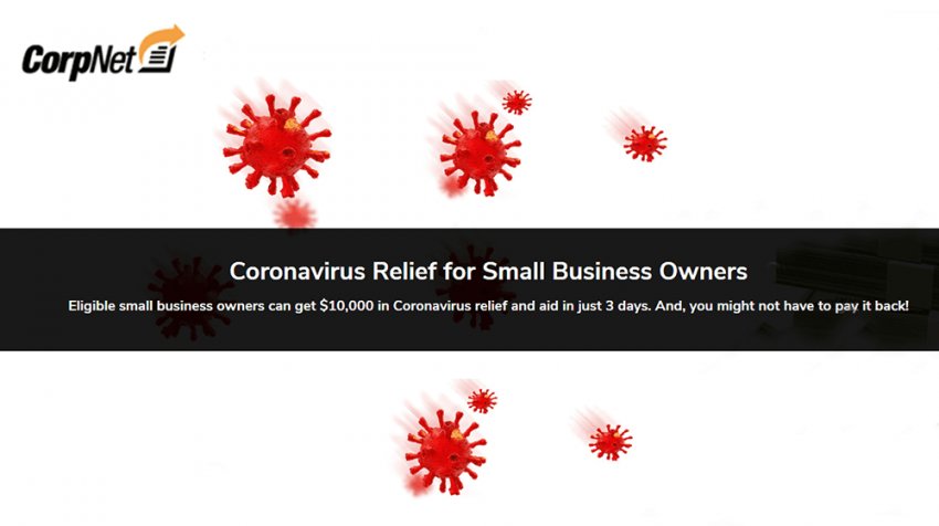 CorpNet Helps Businesses File for Coronavirus Relief