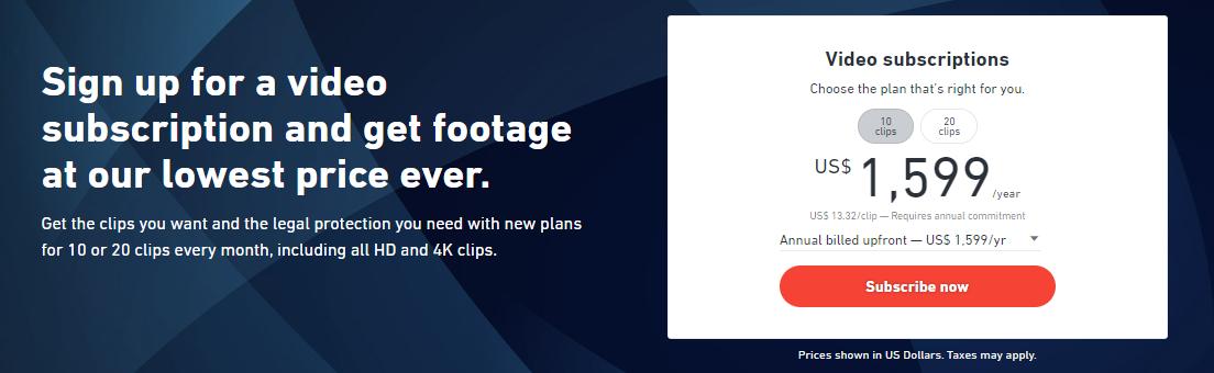 Shutterstock Footage Subscription