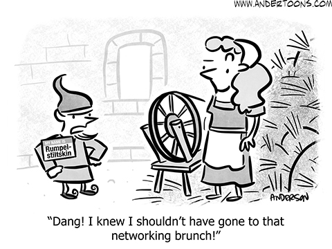 business networking cartoon