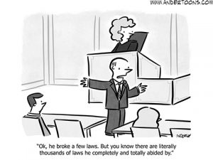 legal business cartoon