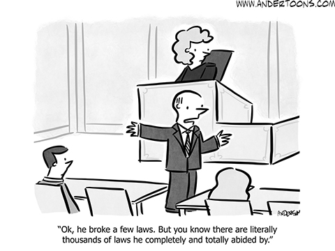 legal business cartoon