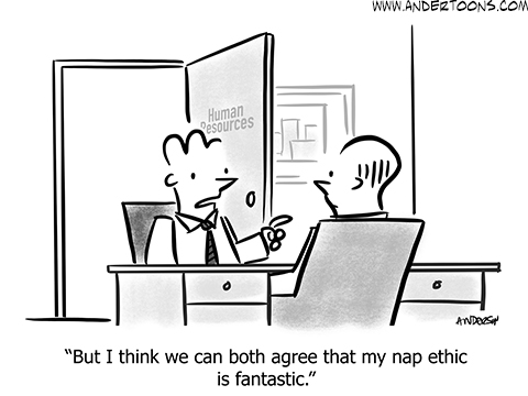 employee review cartoon