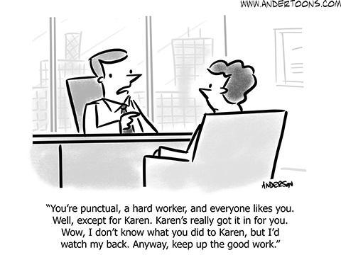 business karen cartoon
