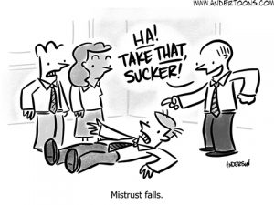 trust fall cartoon