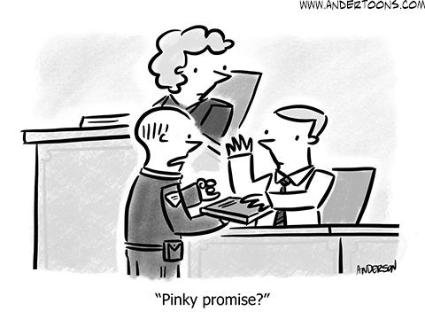 business honesty cartoon
