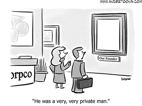 private profile cartoon