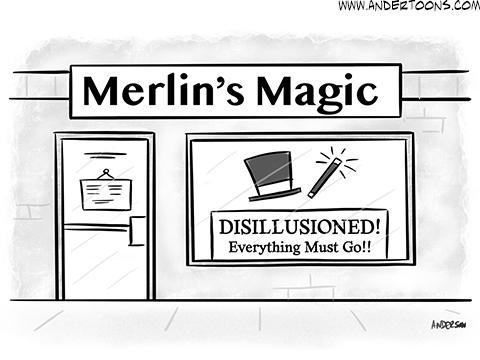business magic cartoon