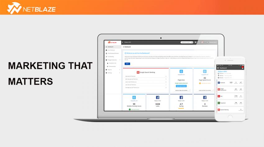 netblaze digital marketing app
