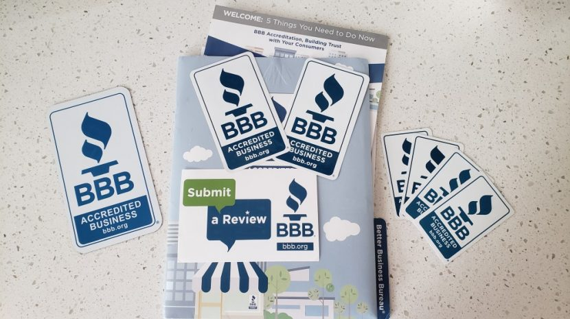 BBB accredited business - Welcome Packet