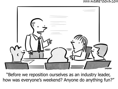 business small talk cartoon
