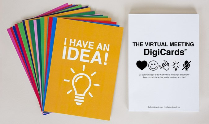 DigiCards Visual cue Cards for Zoom Meetings