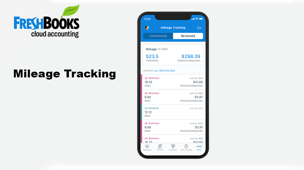 FreshBooks Mileage Tracking iOS app