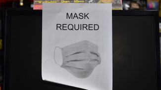 face mask required