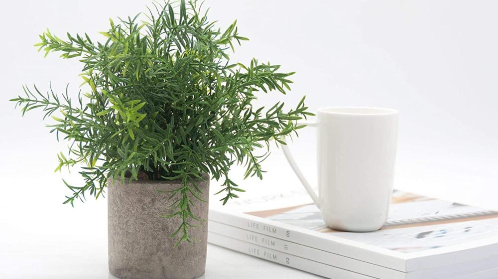 Velener Mini Potted Plastic Fake Green Plant